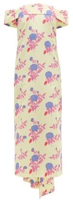 BERNADETTE Jullia Floral-print Off-the-shoulder Midi Dress - Yellow Multi