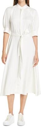 Polo Ralph Lauren Cici Silk Long Sleeve Shirtdress