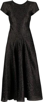 Emporio Armani Metallized Flared Cocktail Dress