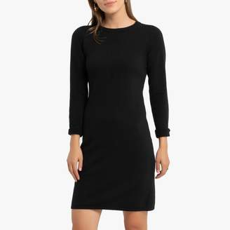 Benetton Wool Mix Tube Jumper Dress with Long Sleeves
