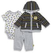 Offspring Baby Boys Zebra Jacket, Bodysuit and Pants Set