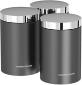 Morphy Richards Accents Set of 3 Storage Canisters Titanium