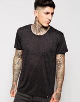 Cheap Monday T-shirt Strong 1 Pocket Slub - Black