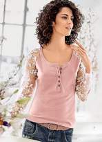 Linea Tesini Heine Lace Sleeve Top