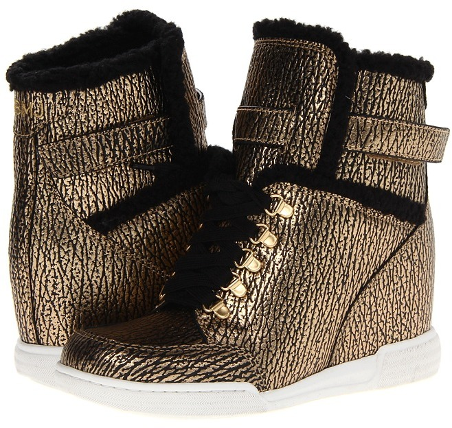 Marc by Marc Jacobs Sneaker Wedge (Gold/Black) - Footwear