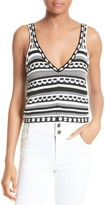 Alice + Olivia Women's Sandrine Knit Cotton Tank