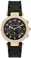 Michael Kors Parker Goldtone Stainless Steel and Silicone Bracelet Watch