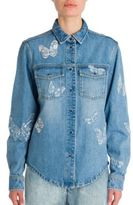 Valentino Butterfly Denim Shirt
