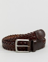 French Connection Plaited Leather Belt