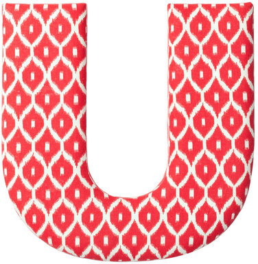 Found by Fab Fabric Letter U Red