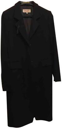 Hache Black Wool Coats