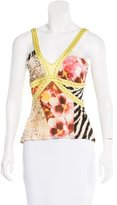 Just Cavalli Printed V-Neck Top