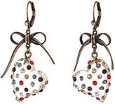 Betsey Johnson Multi Lucite Heart Drop Earrings (Multi) Earring
