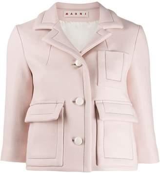 Marni cropped classic blazer