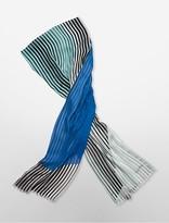Calvin Klein Geometric Arcs + Stripes Scarf
