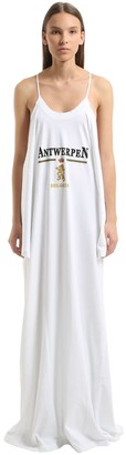 Vetements Antwerpen Pritned Cotton Jersey Dress