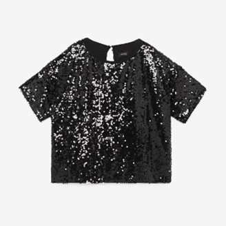 Otto D Ame - Black Sequins Top - black | 38 - Black/Black