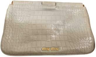 Miu Miu Grey Patent leather Clutch bags