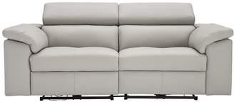 Argos Home Valencia 3 Seater Power Recliner Sofa -Light Grey