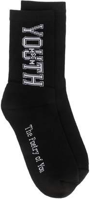 MSGM embroidered socks