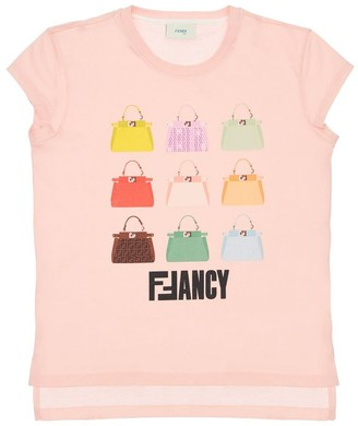Fendi Printed Cotton Jersey T-Shirt
