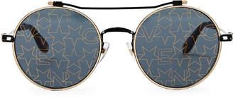 Givenchy GV7079/S Black Flash Star Round Sunglasses