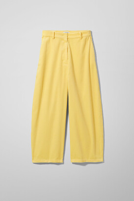 Weekday Regina Cord Trousers - Yellow