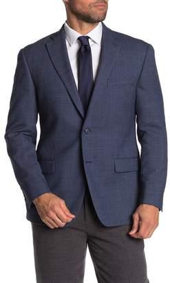 Hart Schaffner Marx Blue Check Two Button Notch Lapel Wool Suit Separates Jacket