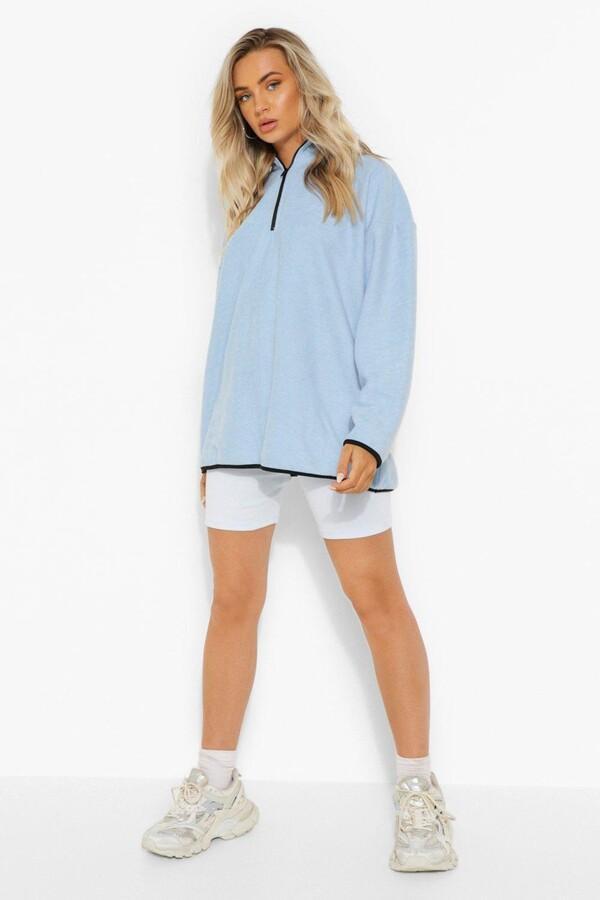 Thumbnail for your product : boohoo Oversized Half Zip Fleece Sweatshirt