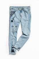 Urban Outfitters Vintage BDG X Andrew Jeffrey Wright Hand-Doodled Faces Skinny Jean