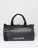 Lacoste Leather Look Carryall Bag Black