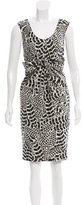 Magaschoni Sleeveless Printed Dress