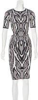 Torn By Ronny Kobo Short Sleeve Midi Dress