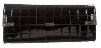 Chanel Chocolate Bar Patent Clutch
