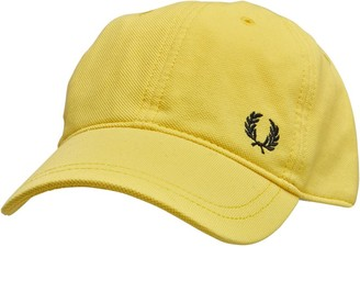 Fred Perry Mens Pique Classic Cap Electric Yellow