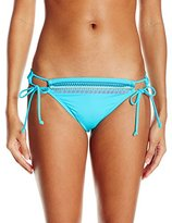 Hobie Women's A Stitch In Time Adjustable Hipster Bikini Bottom