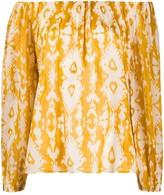Mes Demoiselles geometric print blouse