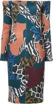 Yigal Azrouel shoulderless patchwork dress