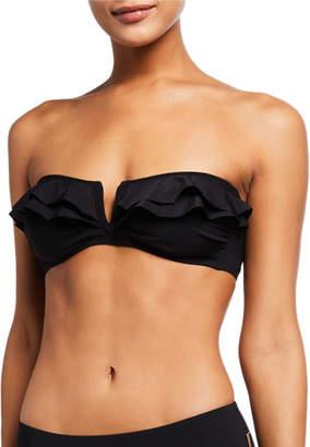 Shan Niigata Ruffle Bandeau Bikini Swim Top
