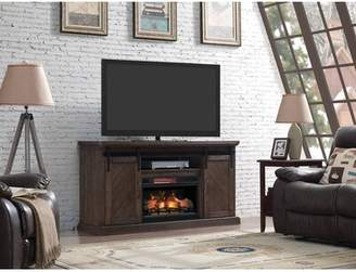 Gracie Oaks Carnahan TV Stand for TVs up to 70 inches with Electric Fireplace Included Gracie Oaks