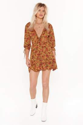 Nasty Gal Womens Peace Out Floral Mini Dress - yellow - 4
