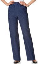 Alfred Dunner Denim Pull-On Straight-Leg Pants