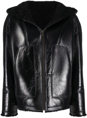 Yves Salomon Shearling-Lined Hooded Jacket