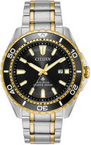 Citizen Eco-Drive Men's Promaster Diver Two-Tone Stainless Steel Bracelet Watch 44mm