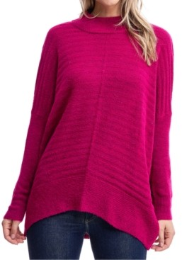Fever Mock-Neck Textured Sweater
