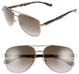 BOSS Men's '0700/s' 60Mm Aviator Sunglasses - Light Gold Havana