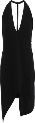IRO Ekioti Asymmetric Open-back Crepe Mini Dress