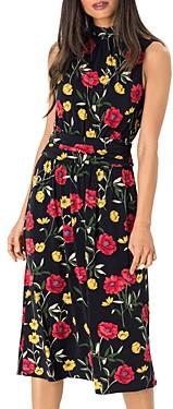 Leota Aria Sleeveless Printed Mock Neck Dress