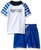 Nautica Toddler Boys' Two Piece Striped Rashguard Set
