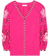 Tory Burch Therese Embroidered Cotton Tunic